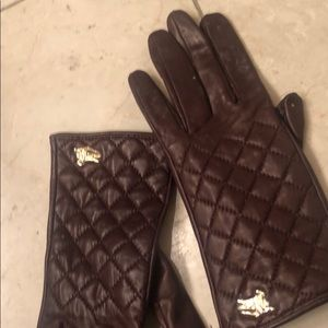 Burberry leather gloves 6 1/2 small